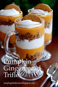 simple pumpkin gingerbread trifle