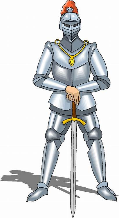 Knight Medieval Clipart Army Ages Middle Transparent