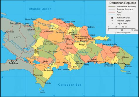 dominican republic map  satellite image