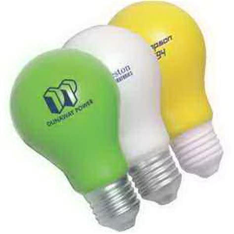 promotional lightbulb stress reliever usimprints