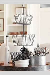 Farmhouse Wire Tiered Stand At Pottery Barn   Farmhouse