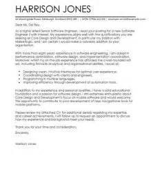 Engineering Technician Cover Letter Software Engineer Cover Letter Exles For Engineering Livecareer