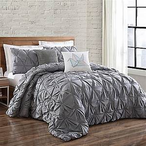 Brooklyn loom jackson pleat comforter set bed bath beyond for Comfort bedding brooklyn ny