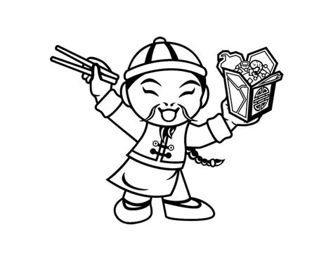 chinese noodles coloring page coloringcrewcom