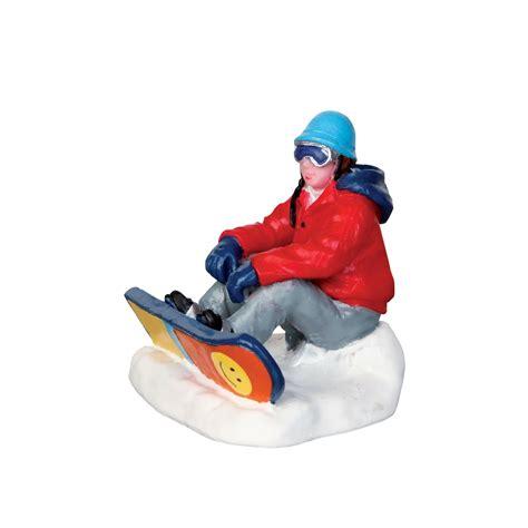lemax village collection vail village snowboarding