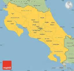 Simple Map Costa Rica