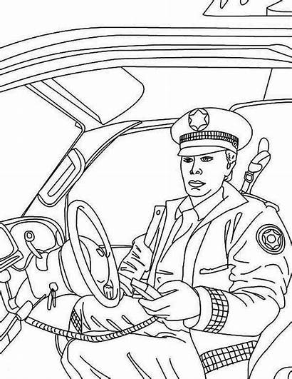 Police Coloring Pages Quarter Reporting Head Drift