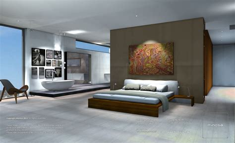Clever Open Plan En Suite Idea Home Open by Minosa Completed Bathroom Design Open Plan Parents Retreat
