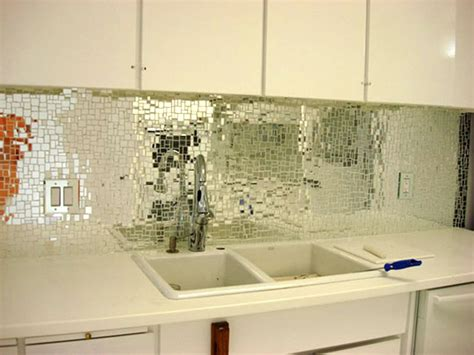 kitchen mirror backsplash look glass mirror mosaic tile backsplash apartment therapy