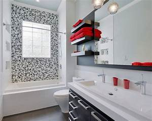 5 easy bathroom makeover ideas With black white and red bathroom decorating ideas