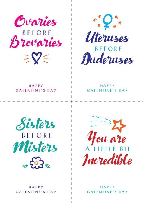 Free Galentine's Day printable postcards / notes ...
