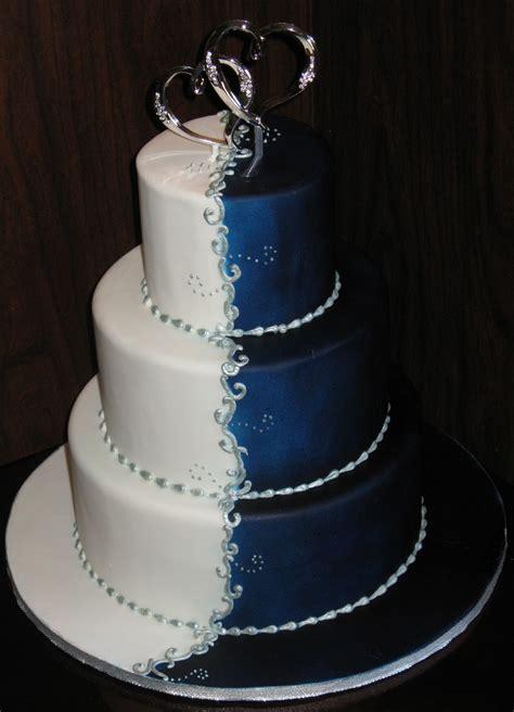 wedding addict dark blue wedding cake special snow angel