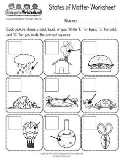 kindergarten science worksheets learning  basics