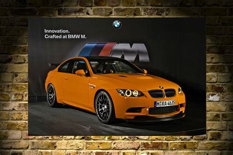 Bmw Posters by Bmw M3 Gts Orange 3 Series Hd Poster Print 24x36in Ebay