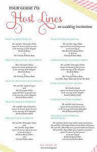A complete guide to host lines on wedding invitations for Wedding invitation etiquette host