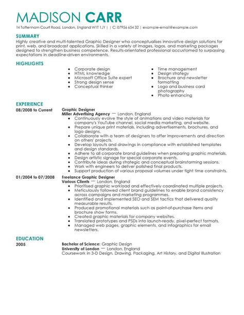 Chronological Resume Graphic Design by Best Graphic Designer Resume Exle From Professional