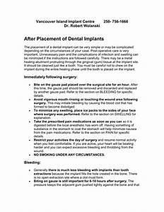 Dental Implant Post Operative Instructions