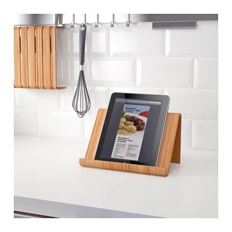 tablette pour recette de cuisine rimforsa tablet stand bamboo 26x17 cm ikea