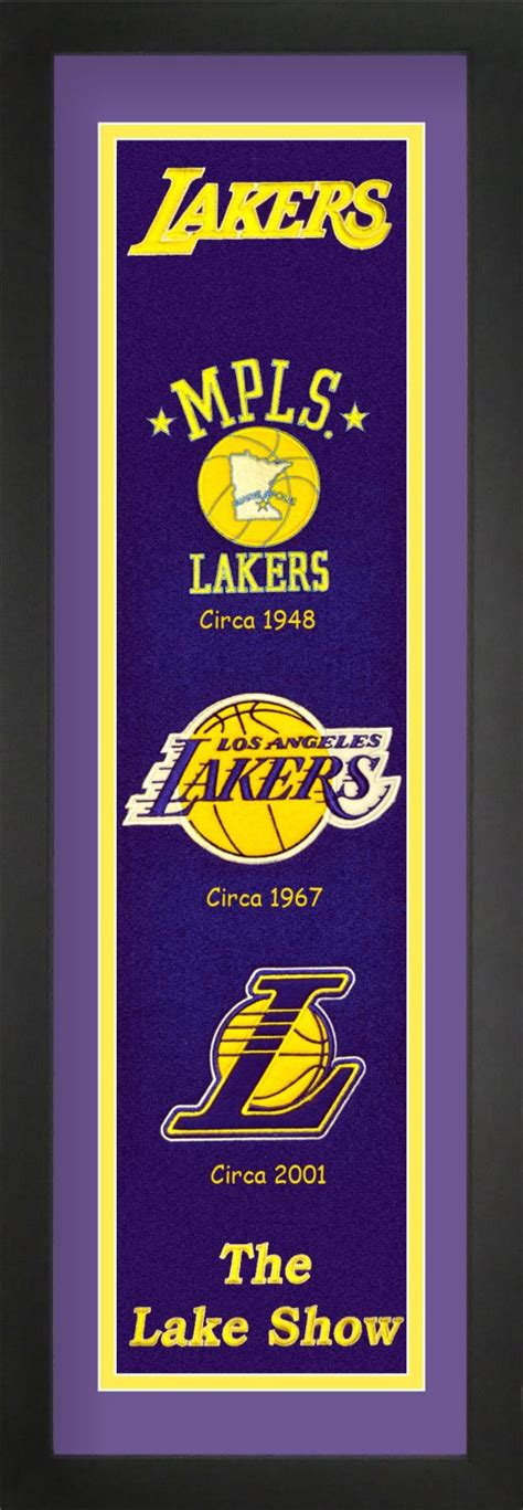 Los Angeles Lakers NBA Heritage Banner Matted Framed