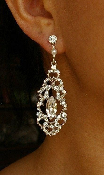 style chandelier bridal earrings vintage style