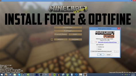 install forge optifine minecraft  youtube