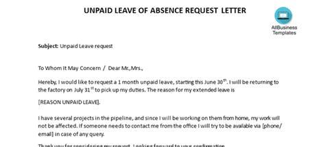 write  letter requesting unpaid leave quora