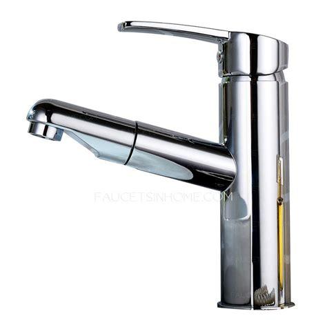 unique pull  copper rotatable bathroom sink faucet