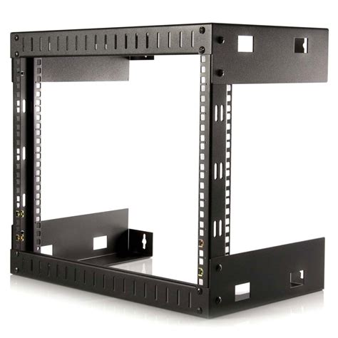wall mount rack startech rk812wallo 8u open frame wall mount