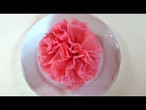 servietten falten rose blume einfache deko fuer