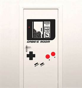 Door decals give life to your home design for Kitchen cabinets lowes with gaming wall stickers