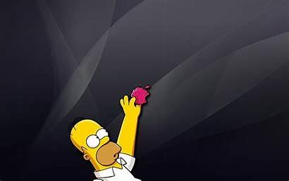 Simpson Homer Simpsons Apple Pantalla Fondos Wallpapers