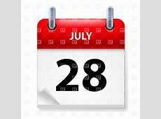 28 of July tearoff calendar icon Vector Image – Vector