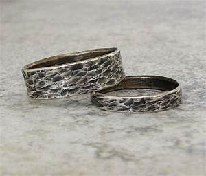 Silver wedding bands distressed bark wedding rings for Wedding rings michigan