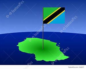 Map Of Tanzania With Flag Stock Illustration I1440071 At