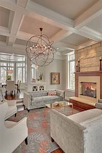 15, Living, Rooms, With, Coffered, Ceiling, Designs