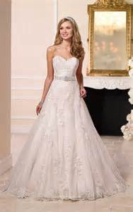 princess gown wedding dress strapless sweetheart lace princess a line wedding dress with sash instyledress co uk
