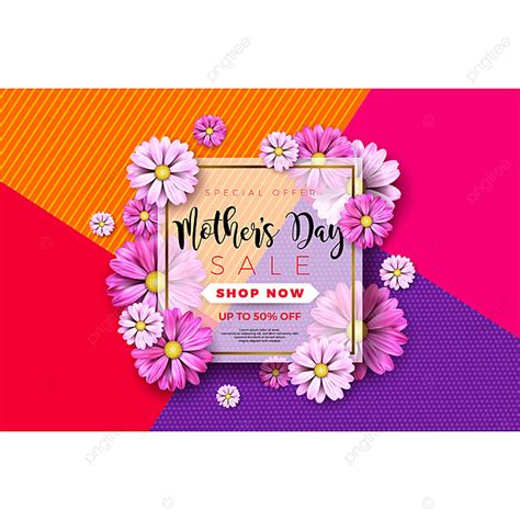 happy mothers day greeting card design  flower
