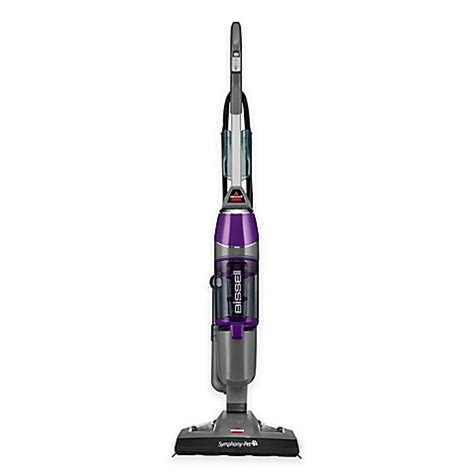 mop vacuum bissell 174 symphony 174 pet all in one vacuum and steam mop in purple bed bath beyond