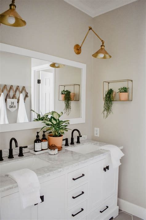 modern boho bathroom remodel house  longwood lane