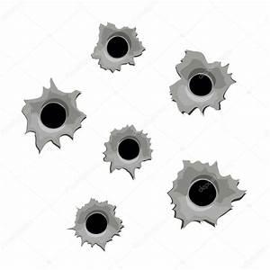 화이트에 총알 구멍 — 스톡 벡터 © skillup11 #68356609