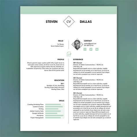 Matching Cover Letter And Resume Templates by Professional Resume Template With Matching Cover Letter Mint