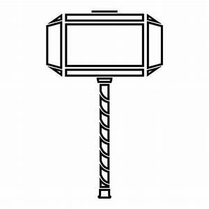 Royalty Free Mjolnir Clip Art, Vector Images ...