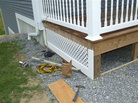 Diy Deck Skirting Ideas by Ideas For Raised Front Porch Studio Design Gallery