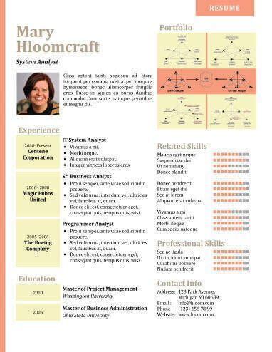17 infographic resume templates free