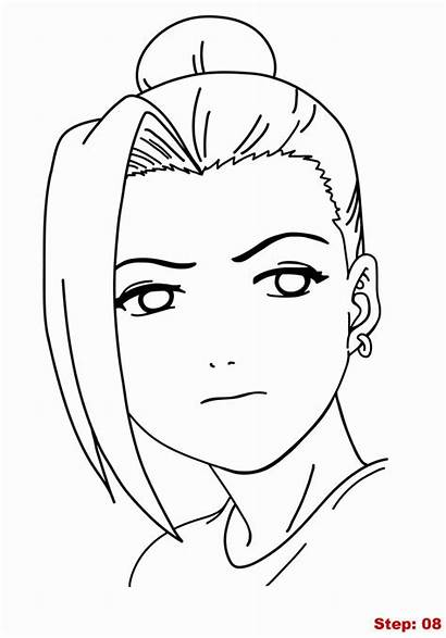 Trace Cool Naruto Easy Drawing Draw Ino