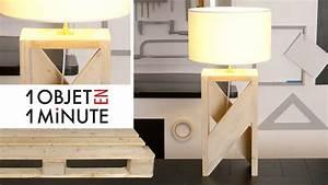 Lampe En Palette : 1 objet en 1 minute episode 2 id e d co fabrique une lampe design avec une palette youtube ~ Voncanada.com Idées de Décoration