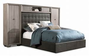 Franklin 5 piece king wallbed taupe leon39s for Furniture and mattress warehouse king