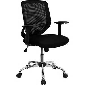 mesh office chair with t arms black walmart com