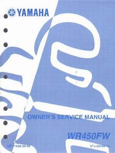 Used 2006 Yamaha Wr450f Motorcycle Owners Service Manual