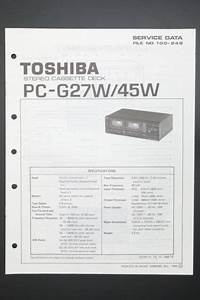 Toshiba Pc 45w Original Service Manual  Guide   Wiring